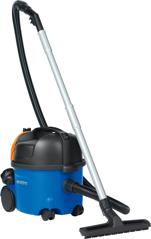 Nilfisk Saltix 10 Cylinder vacuum cleaner 10L 915W B Negro, Azul - Aspiradora (Cylinder vacuum, B, Secar, Hogar, Suelo duro, G): Amazon.es: Hogar