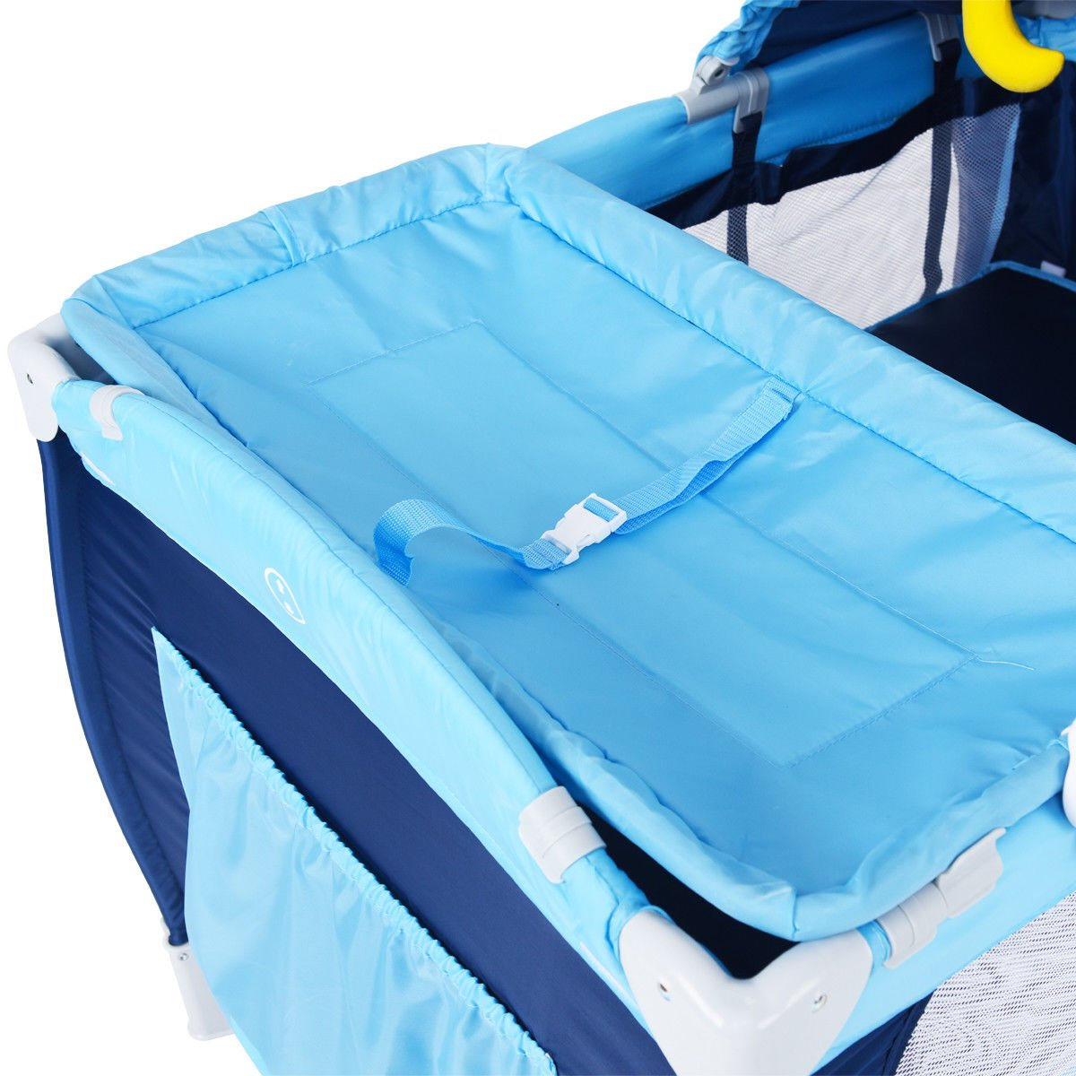 New Foldable Baby Crib Playpen Travel Infant Bassinet Bed Mosquito Net Music w Bag by Costway (Image #8)