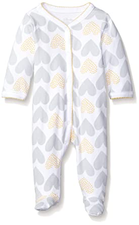 4b6593b7b65 Sterling Baby by Vitamins Girls' Footed Coverall, Allover Hearts, 6 Months
