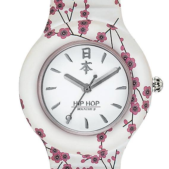 Hip Hop Watches - Orologio da Donna Hip Hop White HWU0864 - Collezione I Love  Japan - Cinturino in Silicone - Cassa 32mm - Impermeabile  Amazon.it   Orologi 256244cf9816