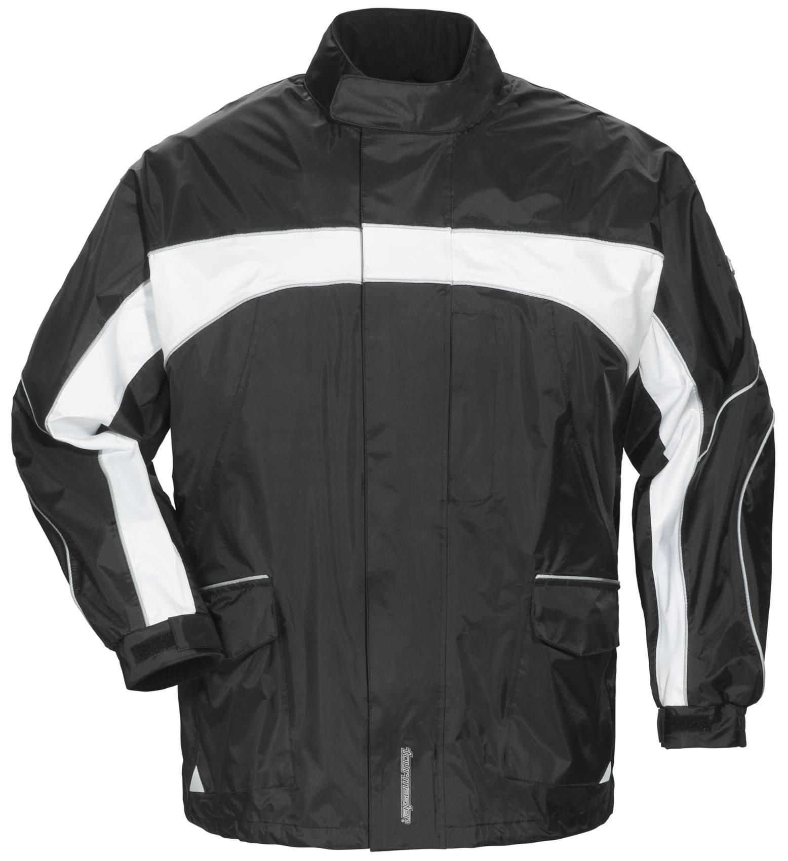 Tourmaster Elite 3 Rain Jacket (X-LARGE) (BLACK/BLACK/WHITE)