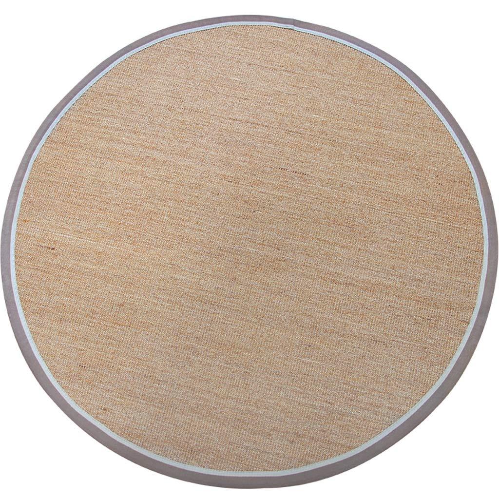 LIUXIN 家庭用ラウンド手織り環境保護滑り止め耐サイザルカーペット - マルチサイズオプション カーペット (サイズ さいず : 100cm) B07RHDQVSJ  100cm