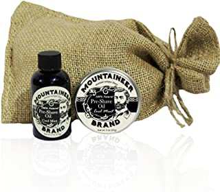 product image for Pre-Shave Oil & Post -Shave Balm Combo by Mountaineer Brand: Soften before and Soothe after shaving (Cool Mint)