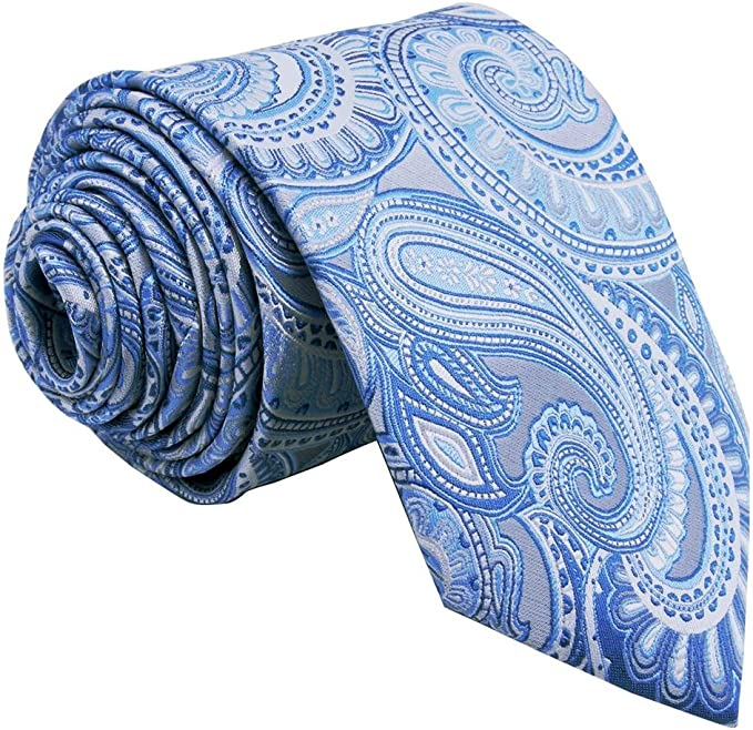 shlax&wing Shlax y ala corbata Extra larga de cachemir azul plata ...