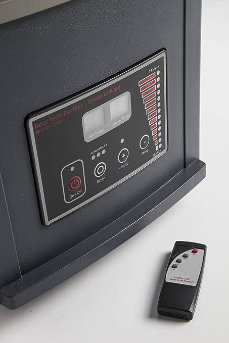 ECO-DE Calefactor purificador eléctrico con Mando y Modo Ahorro en calefacción. 1500W-750W: Amazon.es: Hogar