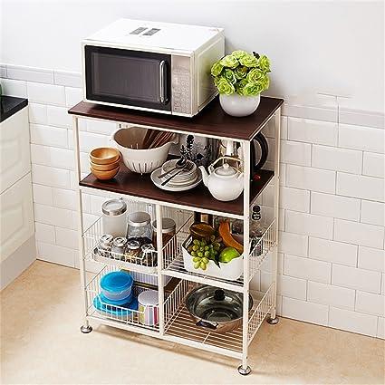 Mensola da cucina Forno a microonde Mensole per cucina rack per ...
