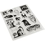Jili Online Cute Cat Theme Silicone Crystal Rubber Stamp Cling Seal Scrapbooking Diary Card DIY Craft