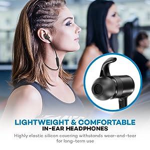 TaoTronics Bluetooth Kopfhörer 4.1 In Ear Kopfhörer bis zu 8 Stunden Spielzeit