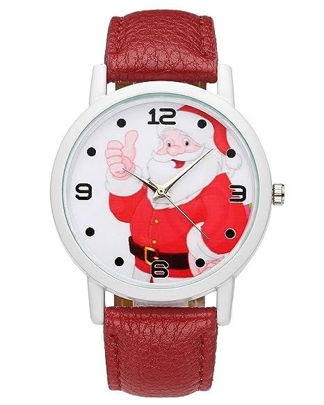 Mujer Jsdde Cute De Papá Navidad Noel Pulsera Chica Reloj zMLSVGUpq