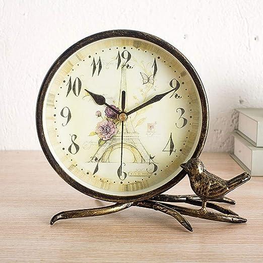 ChenTeShangMao Reloj de Mesa Vintage de Hierro Forjado Reloj ...