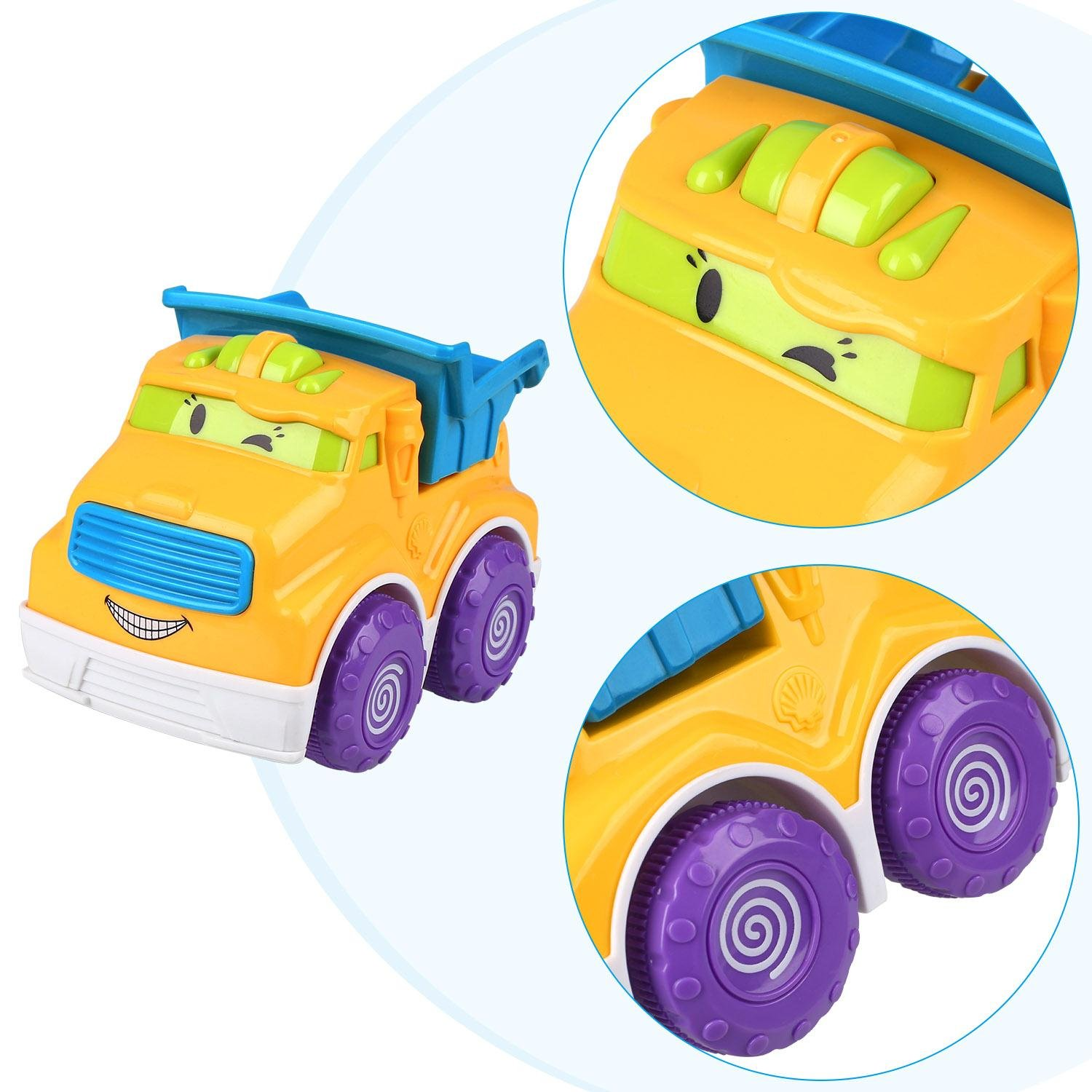Pull Back Cars Push and Go Car Mini Construction Die Cast Vehicles and Raced Dump Truck Car Pretend Play Toy Model Kit Set Preschool Learning for Children Kids Toddlers Birthday Gift By Peradix