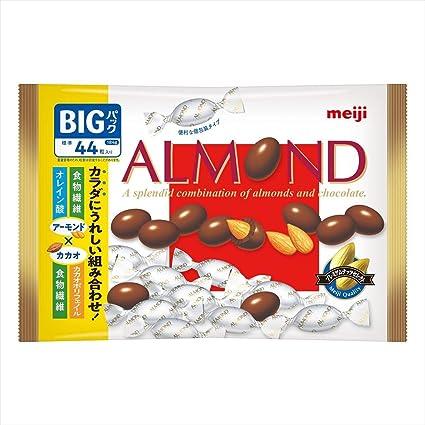 Amazon   明治 アーモンドチョコレートビッグパック 184g ×18袋   明治(菓子)   ナッツチョコレート 通販