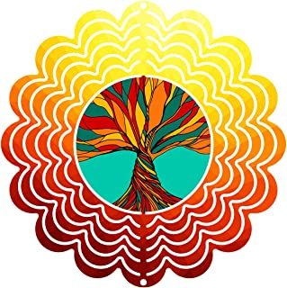"""product image for Next Innovations 101401001-TREEOFLIFE 101401001-Treeoflife Wind Spinner, 6"""" Diameter, Multicolor"""