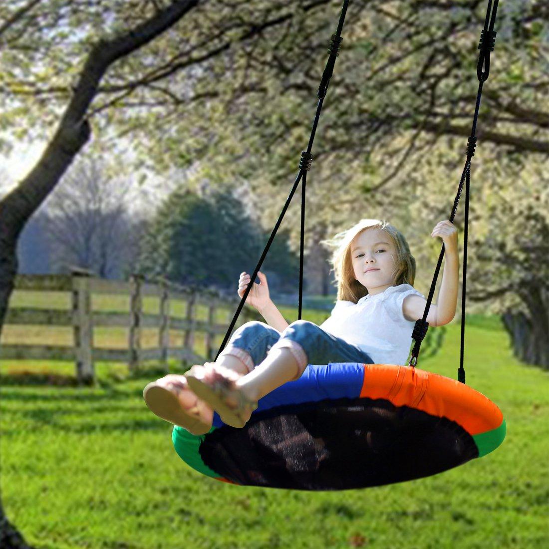 Tree Swing Blue Island Tree Swing Childrens Large Size 40 Diameter Durable
