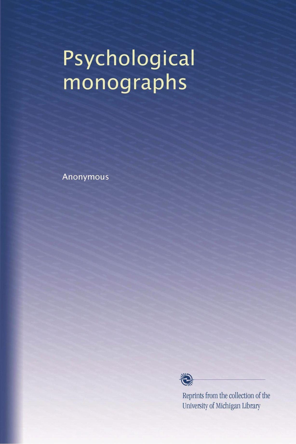Psychological monographs ebook