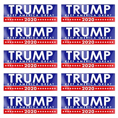 PACETAP 10 PCS Trump 2020 Bumper Stickers, 9 X 3 inch Trump Car and Truck Decal MAGA Stickers, Support 2020 United States Presidential Election: Kitchen & Dining