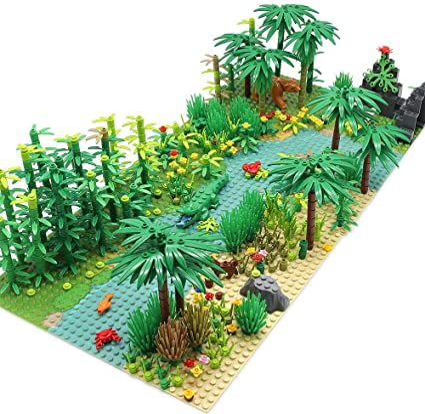 Amazon Com Feleph Forest Garden Building Blocks With 2 Base