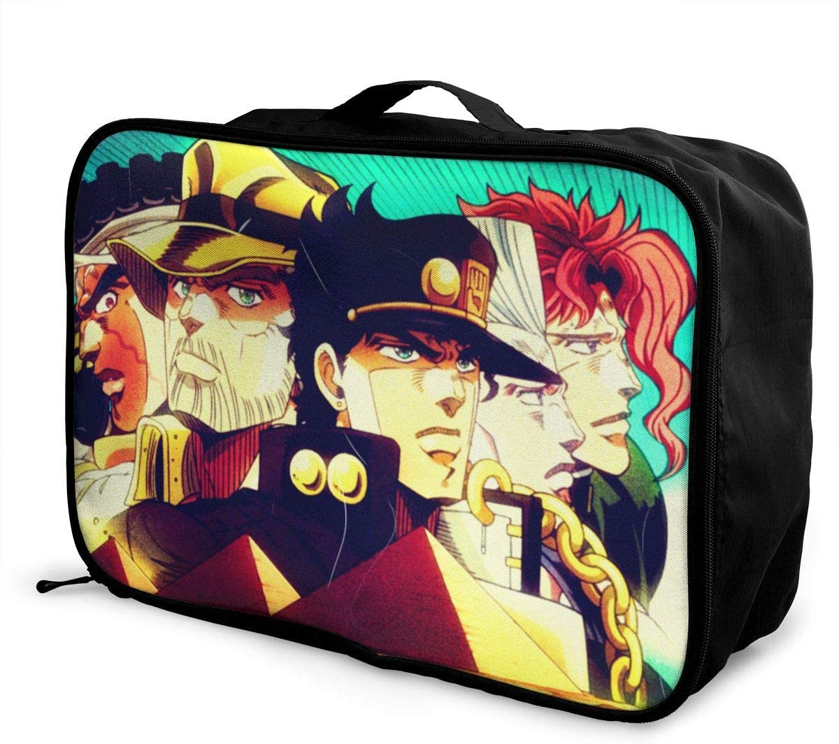 JoJos Bizarre Adventure Travel Luggage Storage Bag Duffel Bag Handle Makeup Bag Fashion Lightweight Large Capacity Portable Luggage Bag