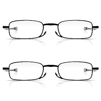 d289f4d0076 Read Optics 2 Pack Foldable Reading Glasses in Pocket Hard Case +2.50 for  Men