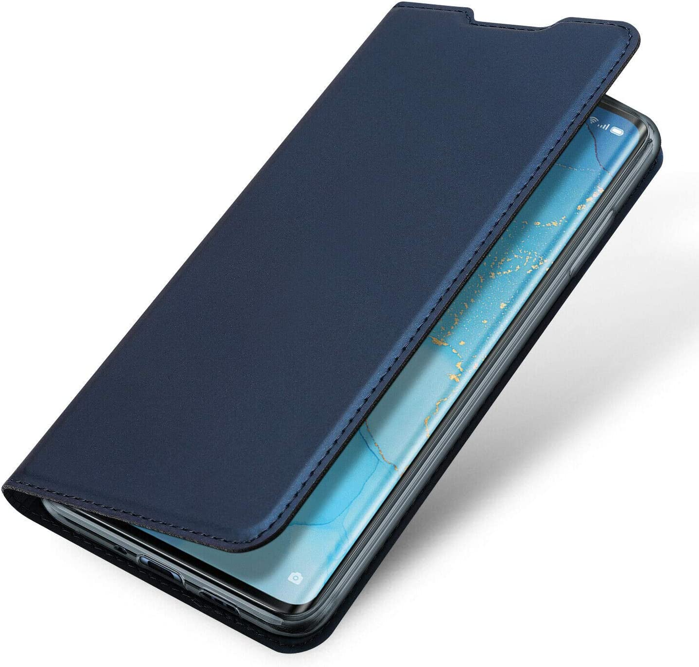 Dux Ducis Ultra Slim PU Leather Flip Folio Case with Magnetic Closure Case for Oppo Find X2 Blue