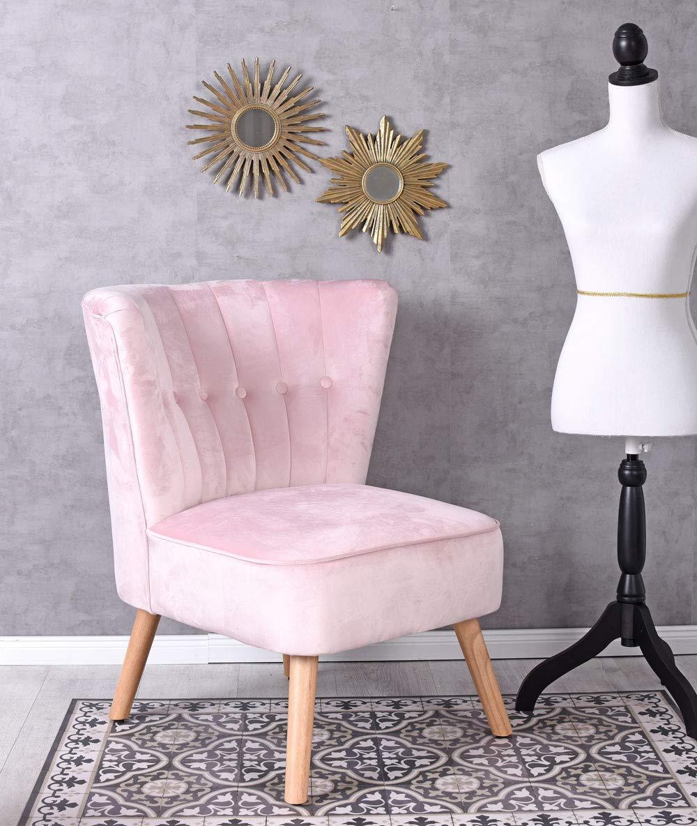 Unbekannt Unbekannt Unbekannt Vintage Sessel Rosa SAMT Samtstuhl 50er Jahre Stil Stuhl Cocktailsessel Palazzo Exklusiv 655d53