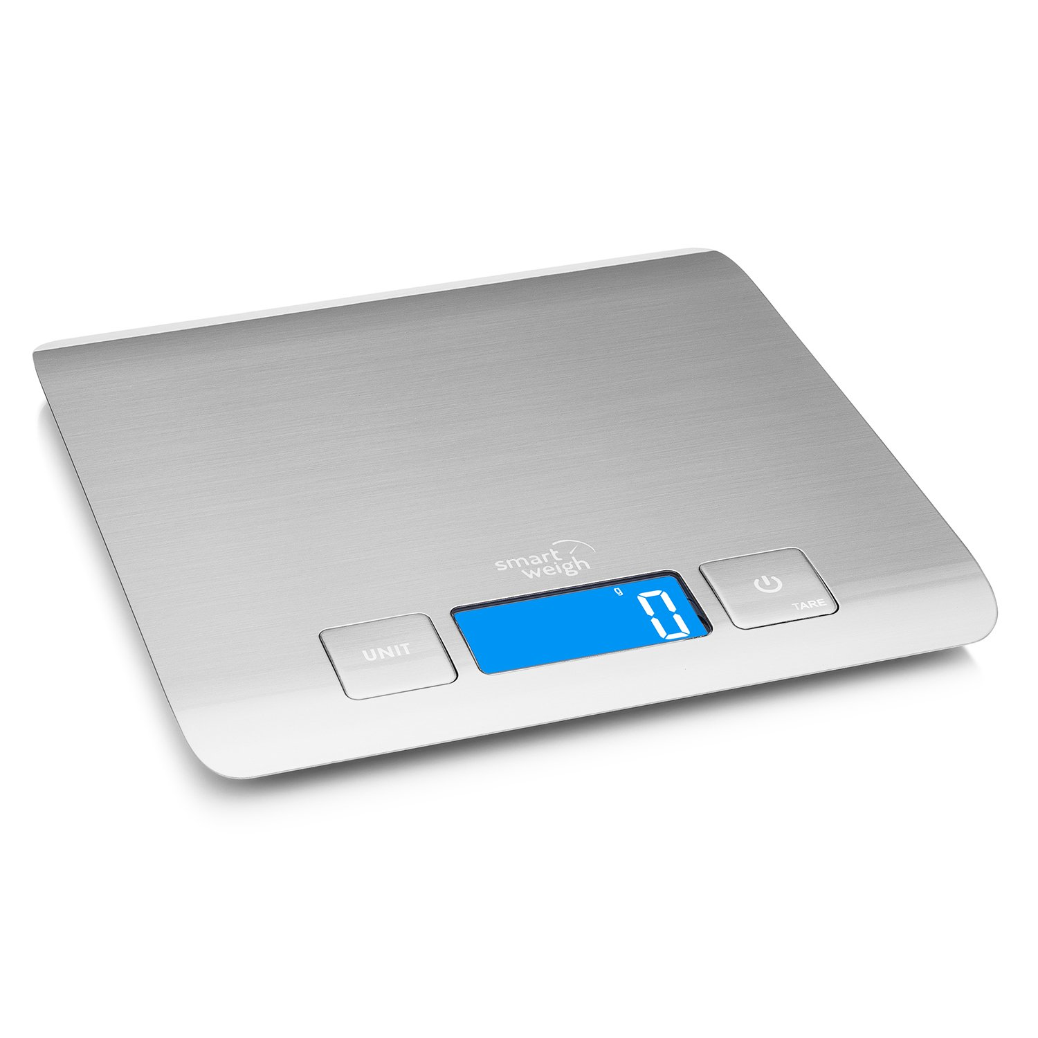 Smart Weigh Digital Food Scale, Multifunctional Electronic Kitchen Food Scale Stainless Steel, Cooking Scale for Food and Baking Ingredient Weight, 11 Pound / 5 Kilogram Capacity (Batteries Included) TZ5000