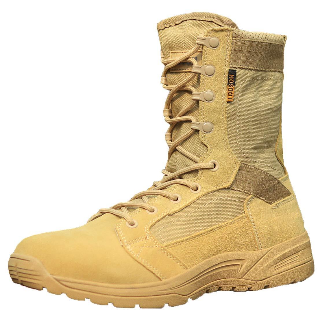 Beige FLYA Chaussures de randonnée pour Hommes avec Chaussures de randonnée pour Toutes Les Saisons, Marche, randonnée, Camping, randonnée, vélo,Beige-36EU 37EU