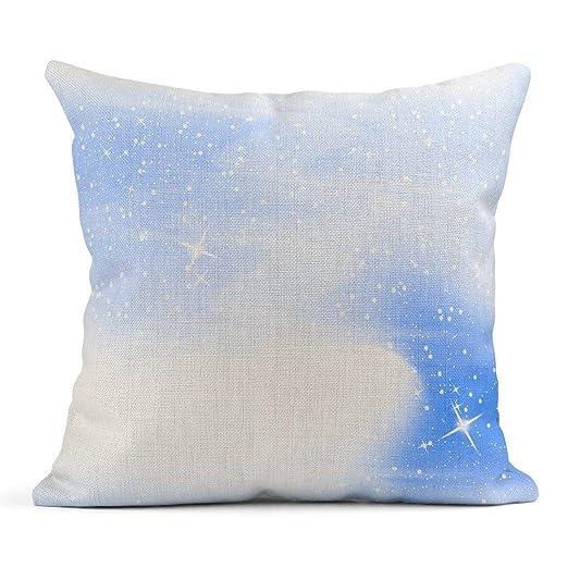 Kinhevao Cojín Bebé Caída de Nieve Cielo Azul Estrellas y ...