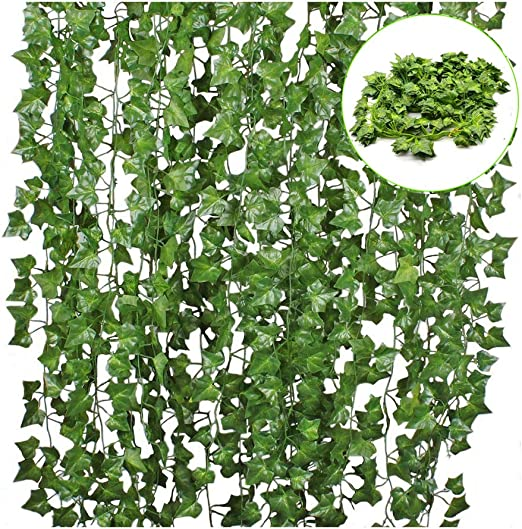 Amazon Com 12 Pack 84 Ft Artificial Ivy Leaf Flowers Greenery
