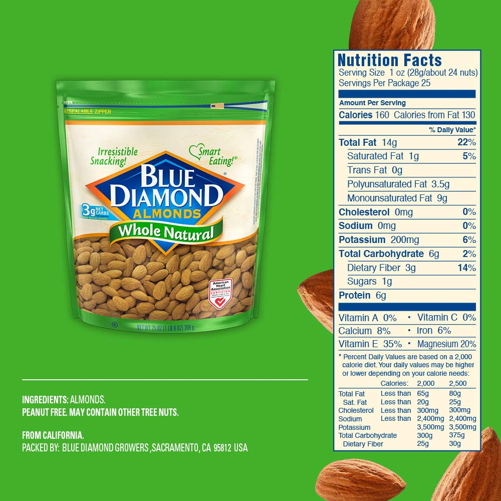 Blue Diamond Almonds, Raw  Whole Natural, 25 Ounce by Blue Diamond Almonds (Image #5)