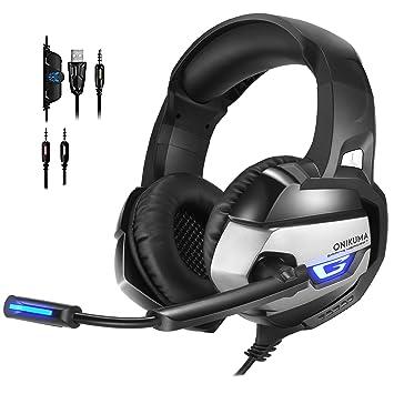 ONIKUMA K5 PS4 Headsets mit Mikrofon LED Xbox One: Amazon.de ...