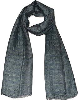2cf43ca2d6e 100% Pure Linen Scarf, IKAT Weave in Melange Stripes, Linen Scarf ...