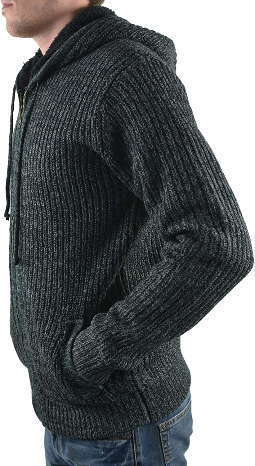 SHINE Original Herren Boa Knit Cardigan Strickjacken Grau (Charcoal Mix Charcoal Mix)