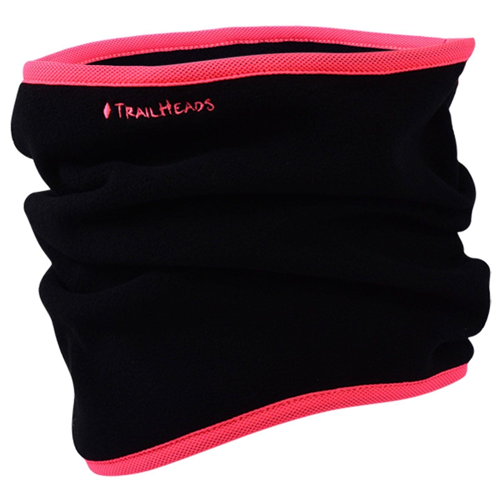 TrailHeads Fleece Neck Warmer/Gaiter - black/bright coral