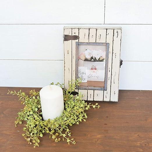 Foreside Home /& Garden FFRD06193 4X6 Rustic Wood Box Frame White