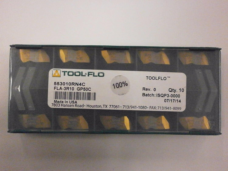 ToolFlo FLA 3R10 GP50 Top Notch Carbide Acme Threading Inserts NA 3R10 GP50C Tool Flo 10pc