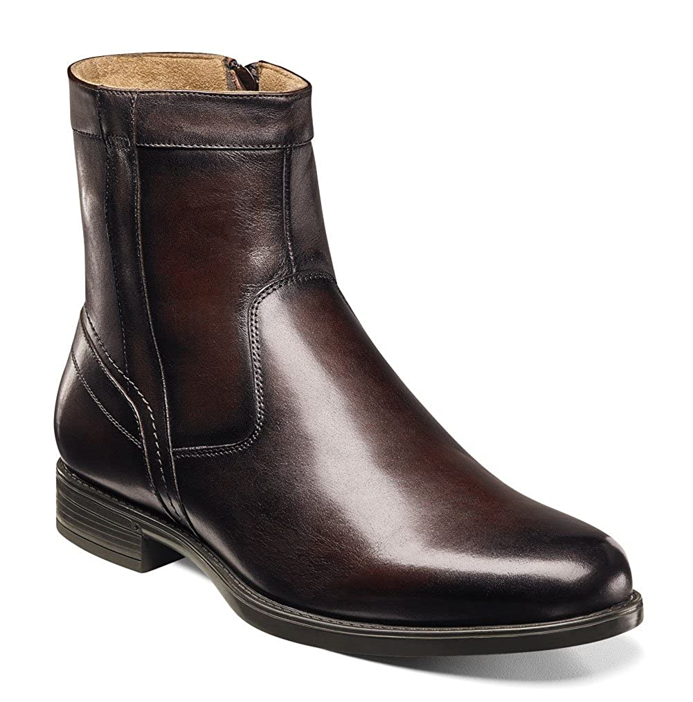 - Florsheim Men's Midtown Plain Toe Zip Stiefel,braun Smooth Smooth Leather,US 7.5 3E  garantiert