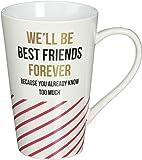 Pavilion Gift Company 75119 Best Friends Forever Ceramic Mug, 18 oz, Multicolor