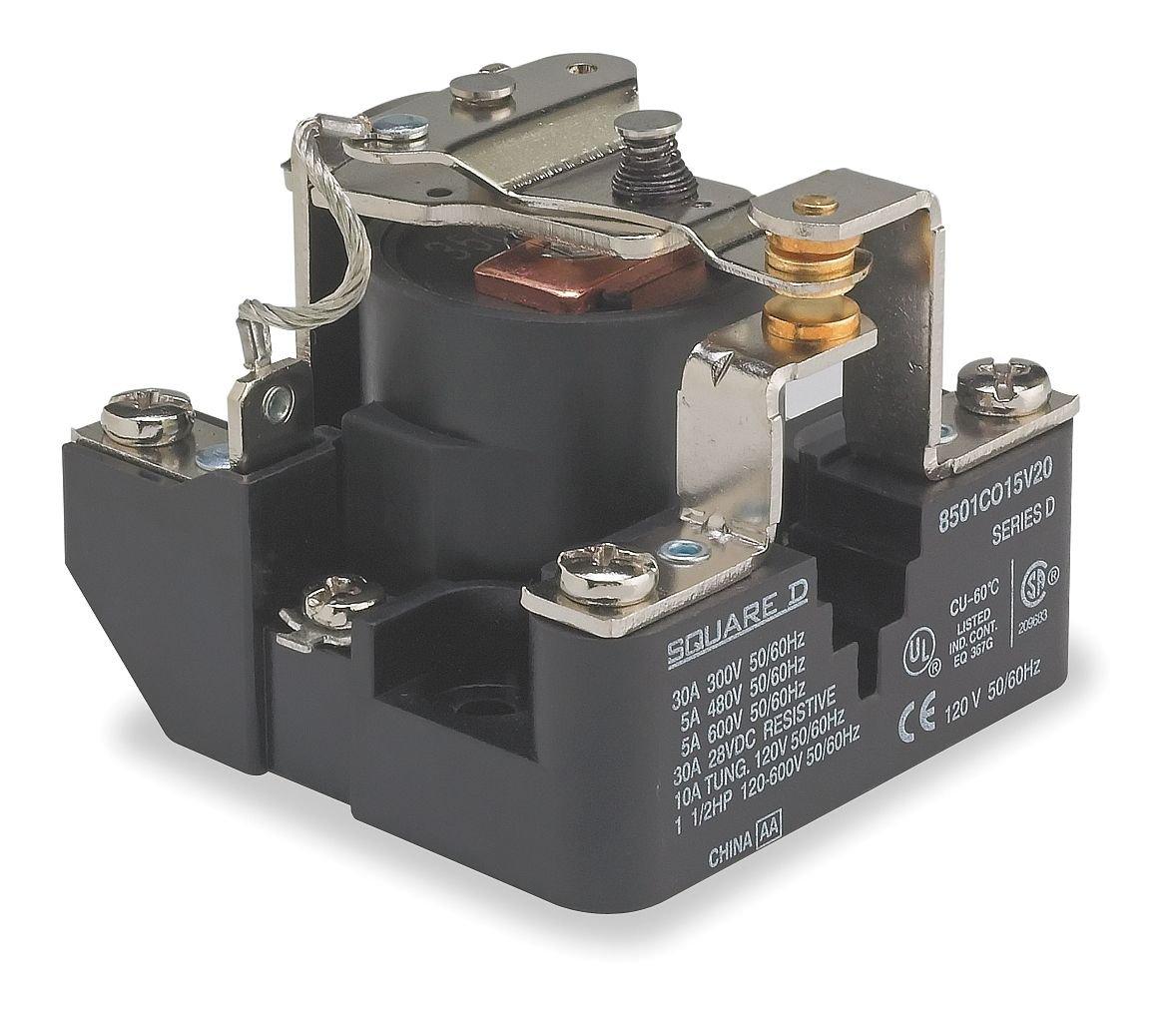 Power Relay, SPDT, 120 VAC, 30 A, 8501C Series, Panel, AC