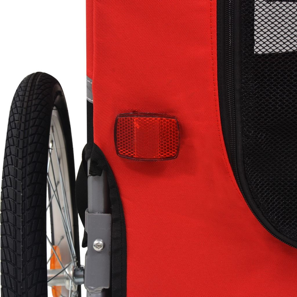 Festnight Outdoor Dog Bike Trailer Cargo Luggage Trailer Red and Black by Festnight (Image #5)