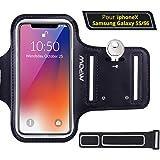 Mpow Brazelete Deportivo para 5.1 Pulgadas Moviles, Armband Ajustable Anti-Sudor para Samsung S5/S5/S6 Huawei para Ciclismo,Correr, Hacer Ejercicio