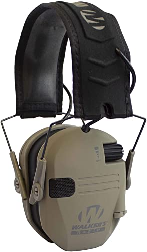 Walker s Razor Slim Electronic Hearing Protection Muffs with Sound Amplification and Suppression. Protect It Or Lose It