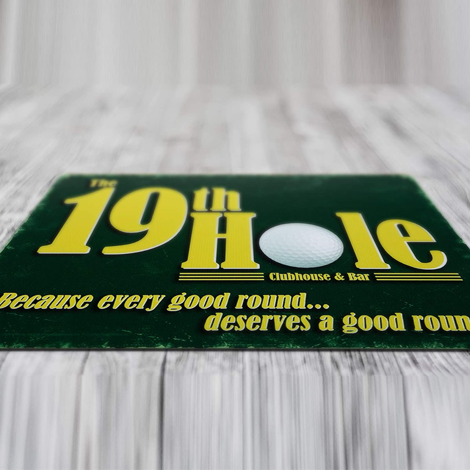 Because Every Good Round Deserves A Good Round Novelty Man Cave Golfers Tin Sign TSC187 19th Hole