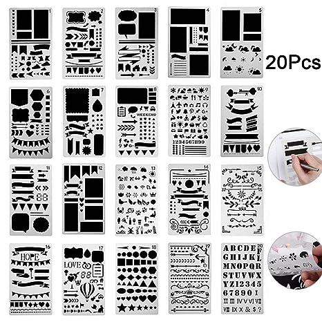 wildlead 12/20 pcs Bola Journal Juego de plantilla plástico ...