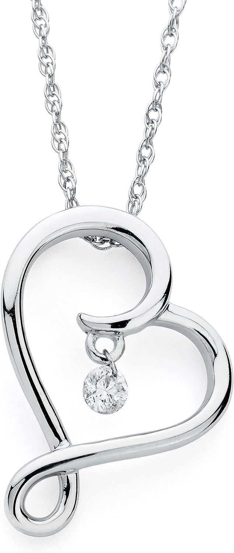 17 Boston Bay Diamonds Tear Drop Dangle Pendant Necklace in 925 Sterling Silver