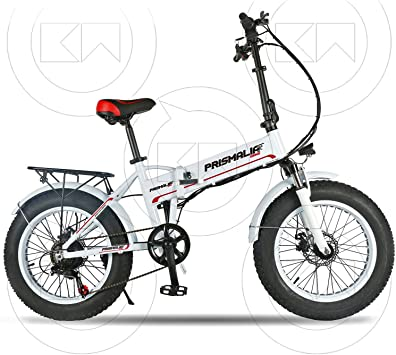 Prismalia - Bicicleta eléctrica Ebike Plegable Fat Bike de 20 ...