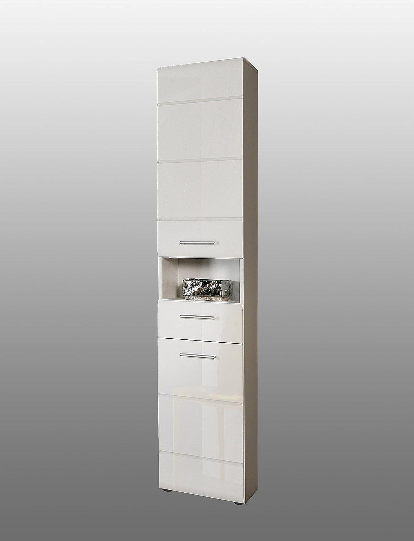 Badezimmer-Hochschrank AVEO 2 Türen, Front weiß Hochglanz, von ...