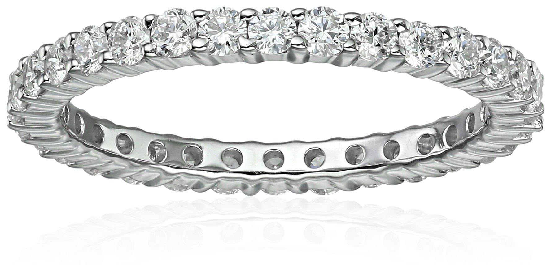 14k White Gold Diamond Prong Eternity Ring (1cttw, H-I Color, I1-I2 Clarity), Size 7