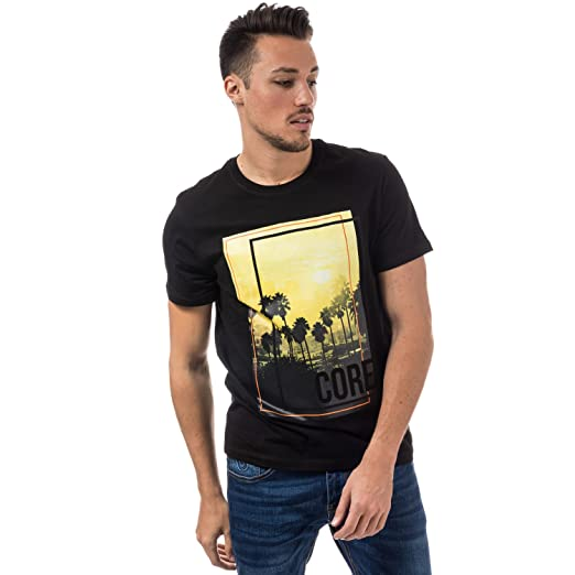 a6c116087b426f Amazon.com  Jack   Jones Men s Walcott Tshirt S Black  Jack Jones ...