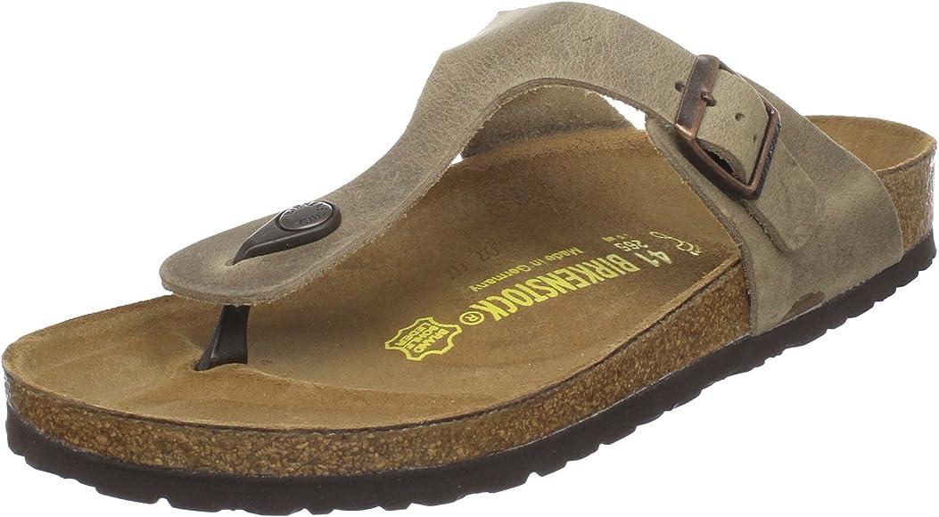 75477eecfb036 Birkenstock Women's GIzeh Thong Sandal, Tobacco Brown Leather, 36 M EU/5-